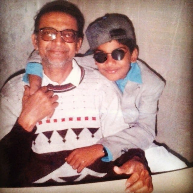 Straight outta 90s. With my main man... Girish Desai. He would have been 77 today. One day I am going to make a rap single about him with this as a cover. Happy Birthday Girish. Whatever I am doing.. It's all for you and because of you and I know you're around.  #PappaChheNe