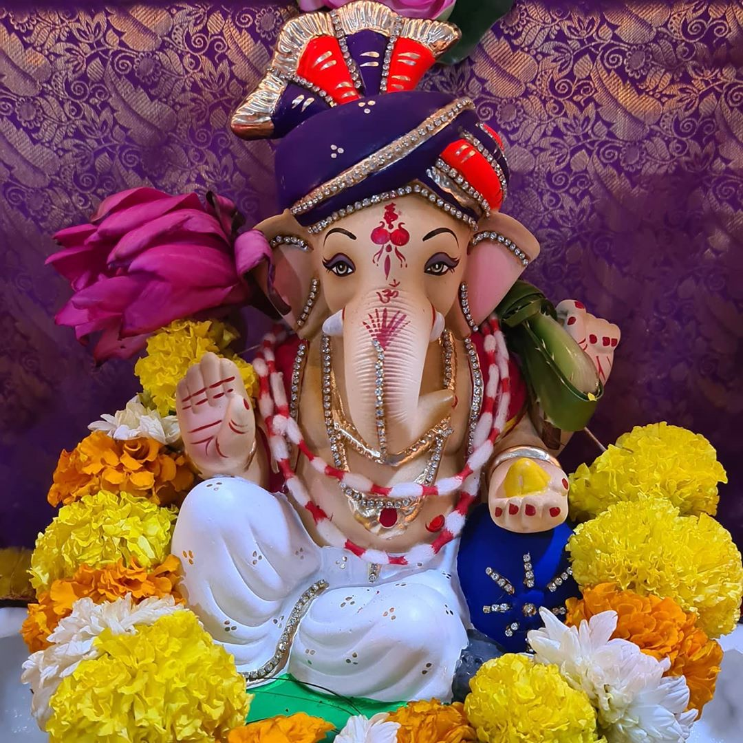 Welcome Home Baapa.  #GanpatiBaapaMoriya