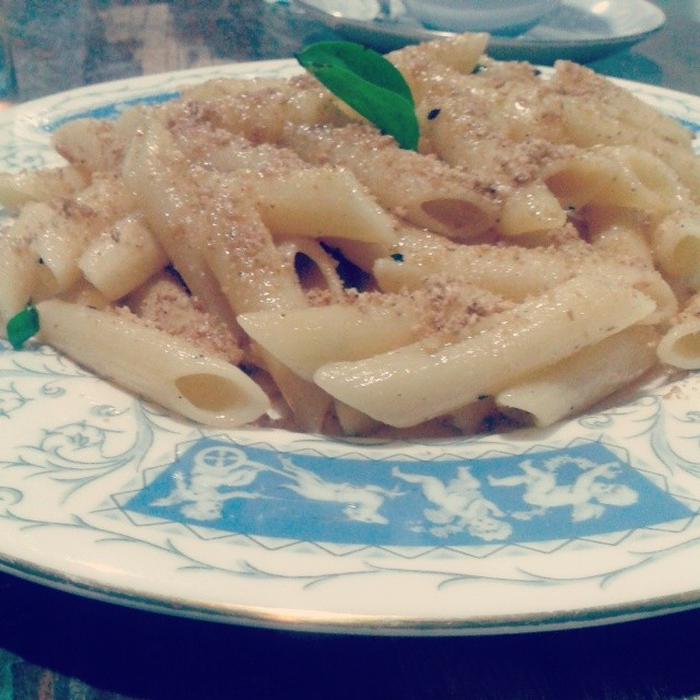 My first food instagram. Pasta at The Philosophy Club.