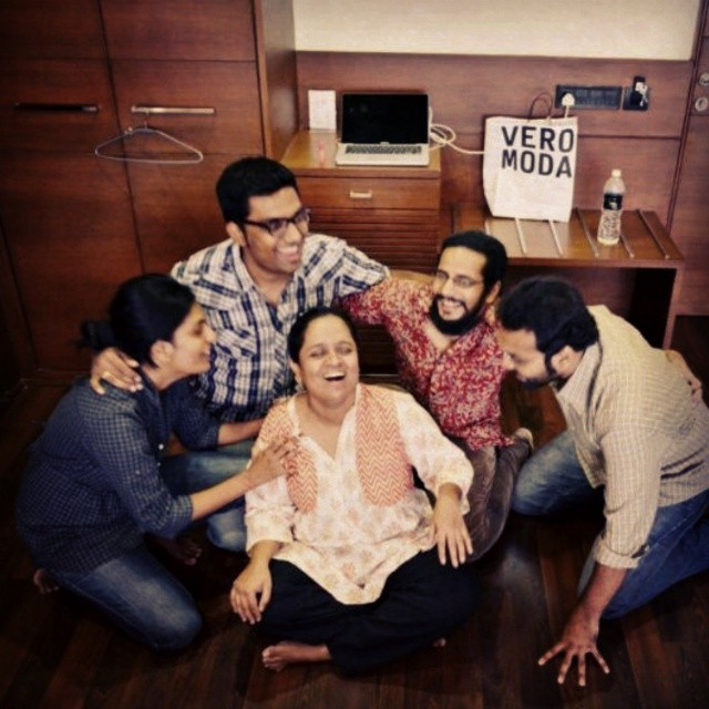The Fantastic Five. Four of us performing live today at the amphitheatre, kamatibaug, for AVSAR - The Art Fest. Come at 7. Will miss Ojas. #Improv #comedy #tcf #fun #avsar
