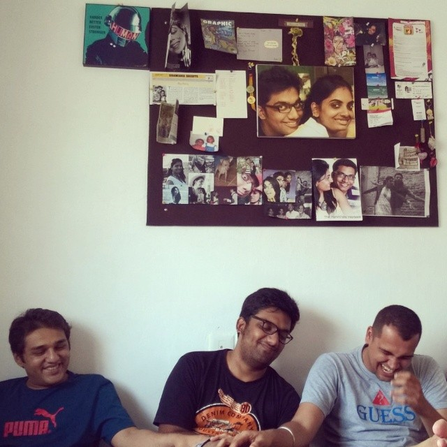 3 Idiots. Featuring The Wall of TogetherNess! #cousins #family #collage #fun