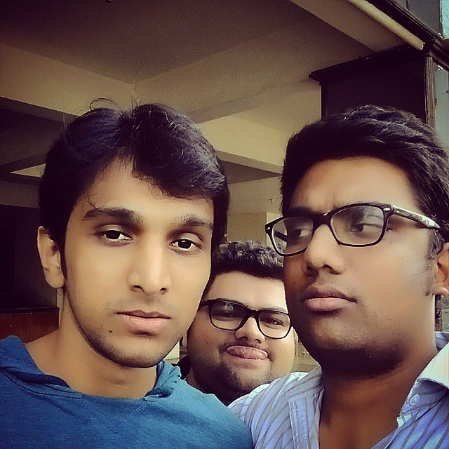 Photo Bomb by Kavin! Me all suspicious. #beyyaar #promotions #baroda