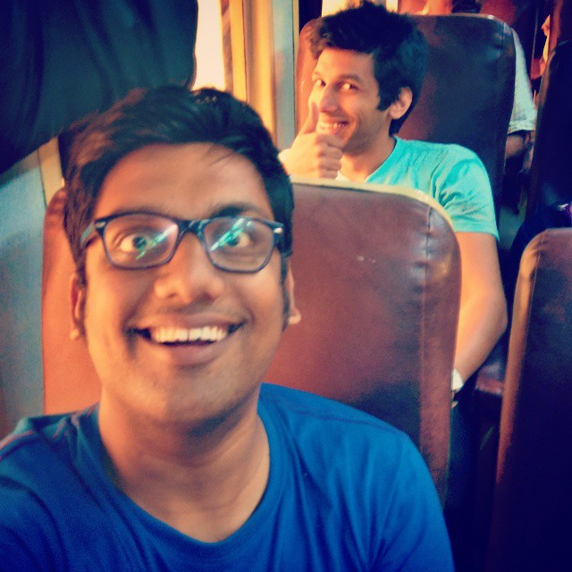 Kanan and Manan. The Crooked Glasses look. #comedy #festival #train