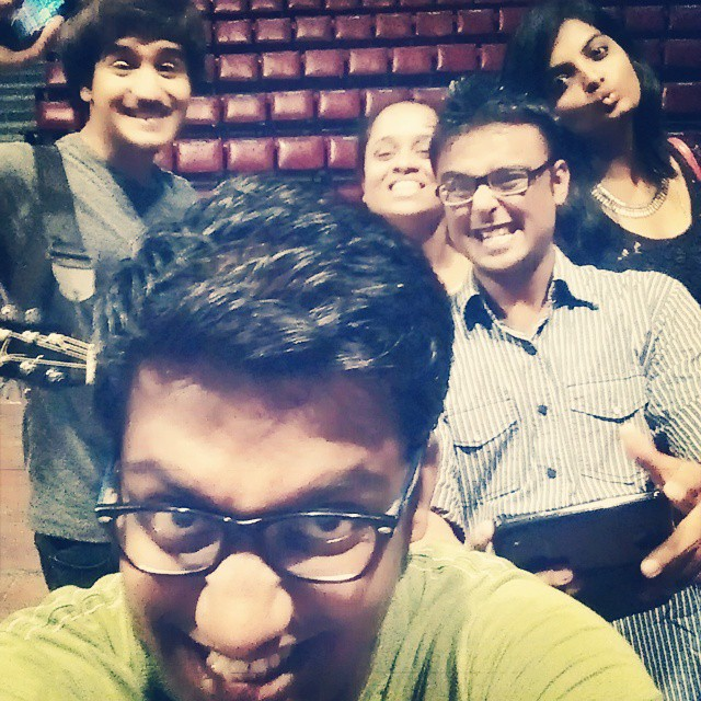 Didn't know this picture existed. The Most Fun we had before the show. #throwback #comedians #Gujarat #comedy #festival