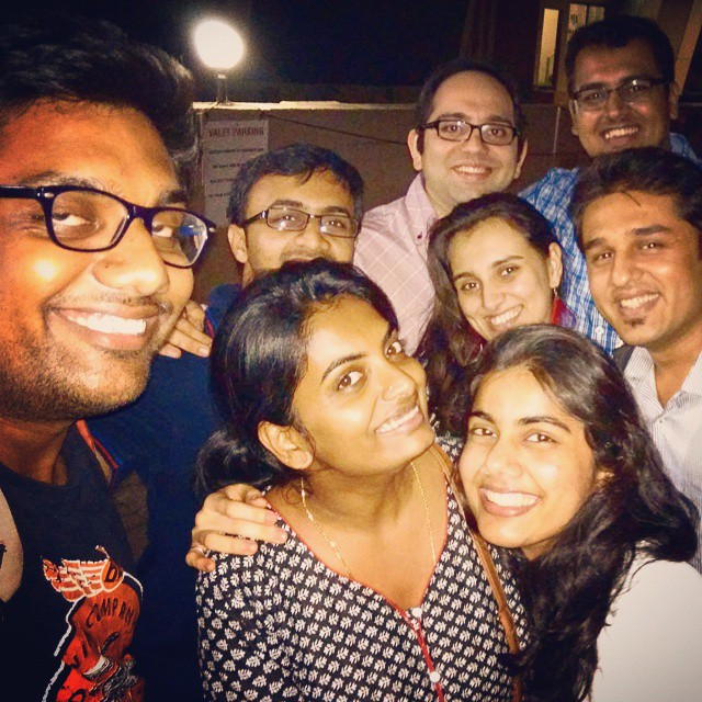 The Drunk Selfie. After Party on @vidyajanakiraman 's birthday with cousins.
