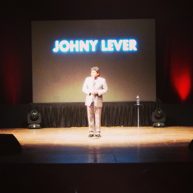 So lucky to watch him live again.. This is going to be remarkable. #johnny #lever. Baap Baap hota hai.