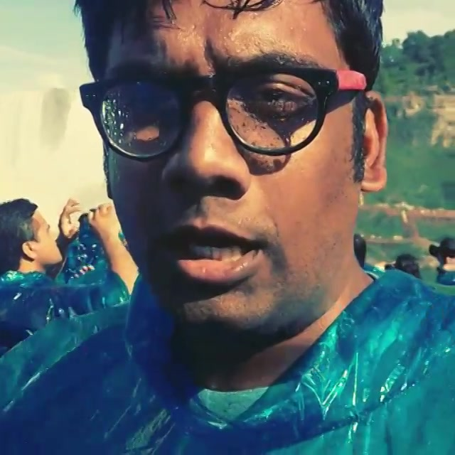Gujju Guide at Niagara Falls. Last line - Somebody is interrupting! #Gujju #tourist