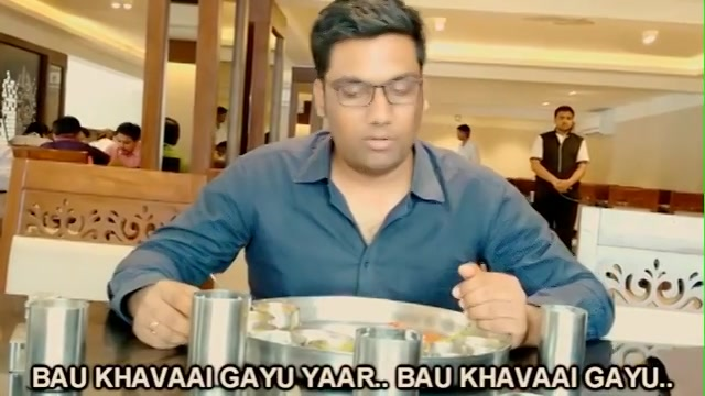 Video 1 (Reuploaded) - Every Gujarati Thali ever.. I always feel that I've overeaten after a gujarati thali. But there is one trick which gives me a chance to relish more.  I am making 10 random videos this month for my instagram account cos I have crossed 10k followers and i love bad decisions. Also spreading the awareness that instagram/youtube/facebook videos are not called vines. So stop!  Reupload as previously the video was not working on many mobile devices.  #10videos #Manan #10k #instagram #random #gujarati #thali