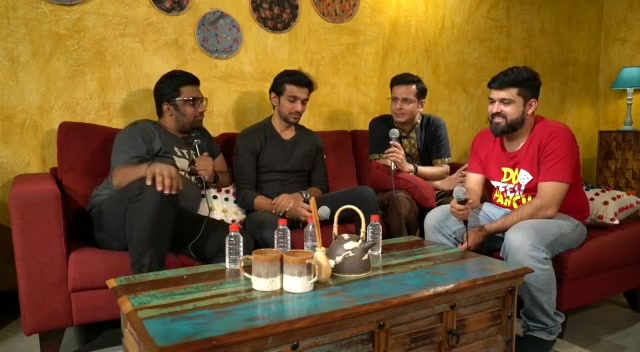 Fun chatting up with @pratikgandhiofficial @ojasrawal @nautankideep  Link in Bio  #thecomedyfactory #podcast