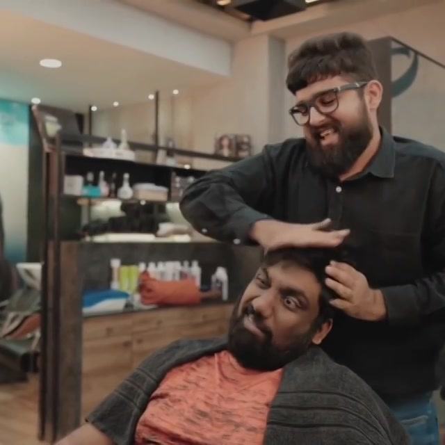 Have you ever taken a Massage Maalish at a Salon in Gujarat? This video pretty much culminates my experience.  Full video link in BIO.  #thecomedyfactory #GujjuUnisexSalon #WWE #Massage #TelMalish