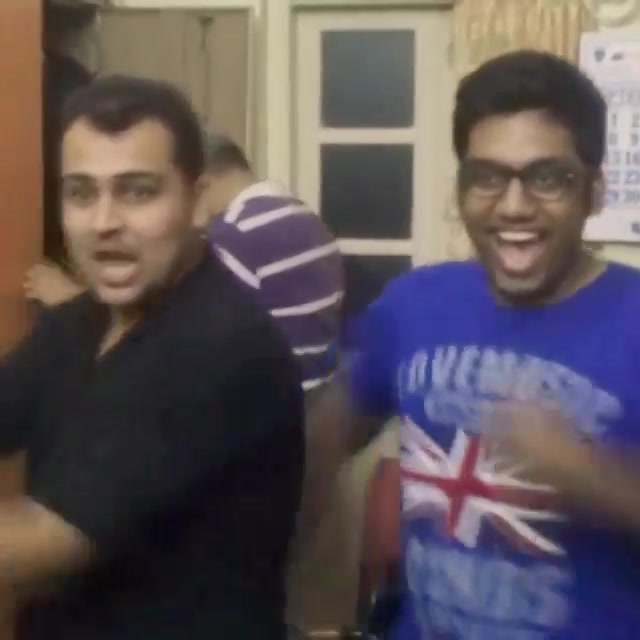 It's peanut butter jelly time! O Banana. Crazy fun for @sagarshah07 on Skype. #cousins #skype #dance